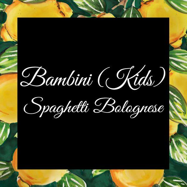 Bambini-Spaghetti Bolognese-DaTano-Italiaanse-Smaak