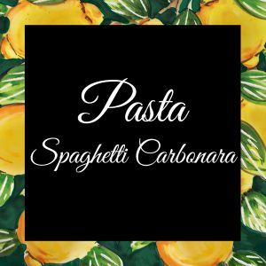 Pasta-Spaghetti Carbonara-Da-Tano-Da-Tano-Italiaanse-Smaak